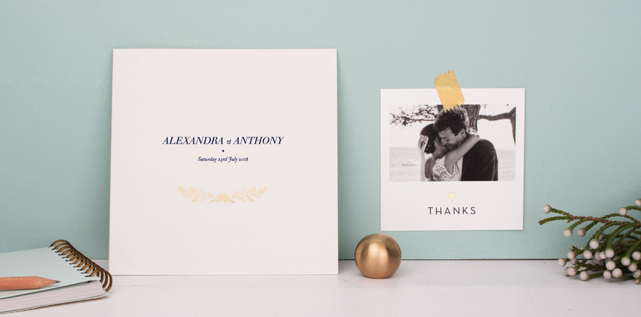 Foil Stamped Stationery by Rosemood