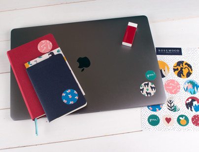 Rosemood GRR Stickers on your notebooks