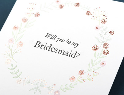 Rosemood Will You Be My Bridesmaid Cards
