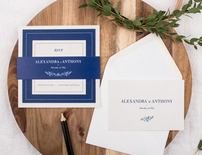 Natural chic wedding invitations