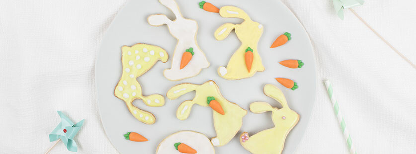 Decorated Easter Bunny Biscuits