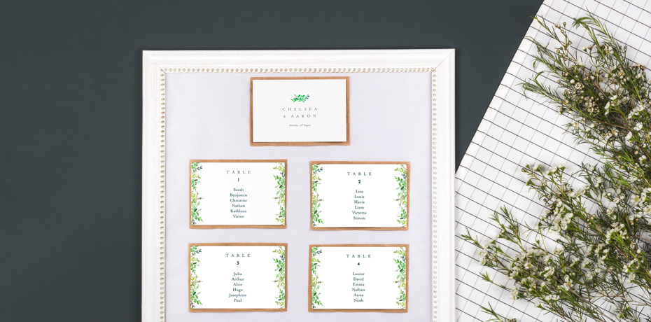 Make your DIY wedding table plan with Rosemood