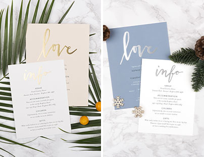 Wedding invitations to the seasons from Rosemood
