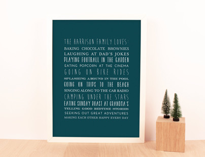 Personalised Posters for Christmas
