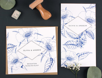 Wedding stationery from Mr and Mrs Clynk